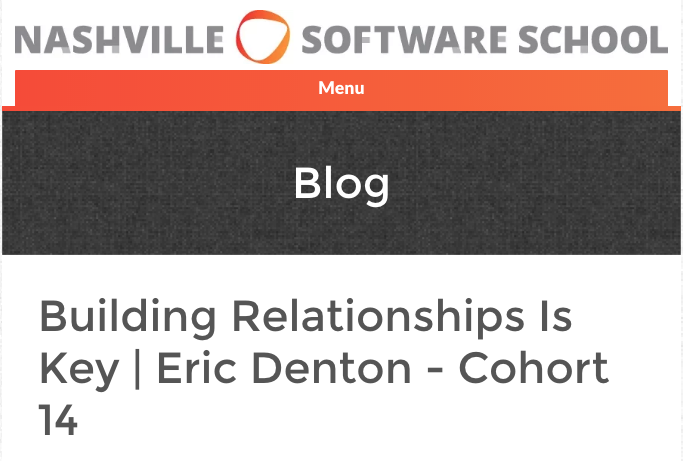Building Relationships is Key - Link to blog post